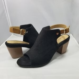 Croft & borrow black suede shoes boots booties